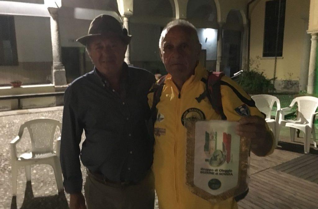 """11 Giugno 2018 – """"Al Museo accogliamo Antonio Ballariè, l'Alpino che ha fatto il giro dell'Italia a piedi"""" –"""