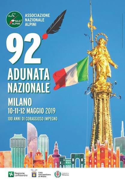 Adunata Nazionale per il Centenario (1919-2019) – 92° adunata degli ALPINI a Milano