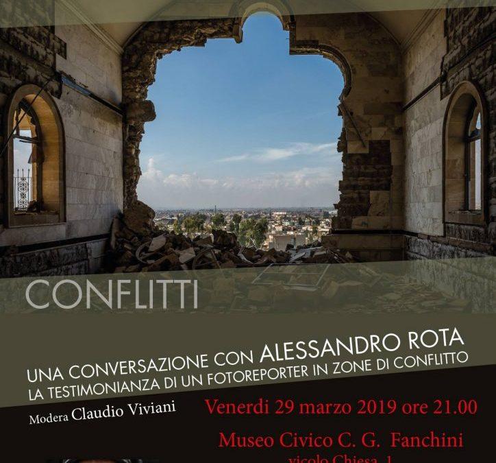 Conversazione con Alessandro Rota, testimonianze di un reporter di Guerra – Gruppo Alpini Oleggio – 29 Marzo 2019