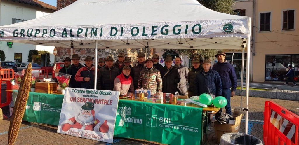 Evento Telethon 15 – 12- 2018 – Piazza Oleggio